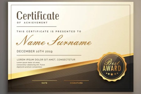 Luxury certificate template with elegant border frame  Diploma     Premium certificate template design vector