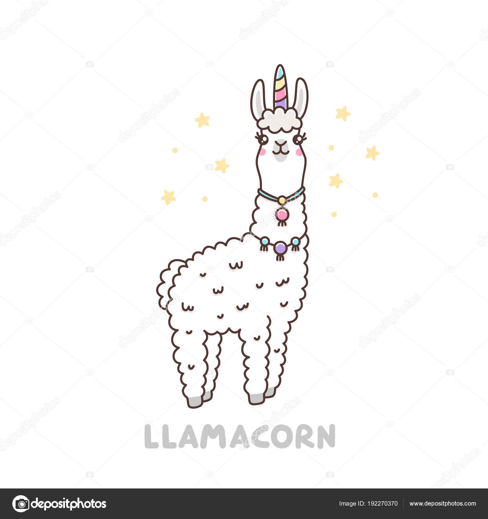 Cute Llama Unicorn Costume Llamacorn Funny Puns Unicorn