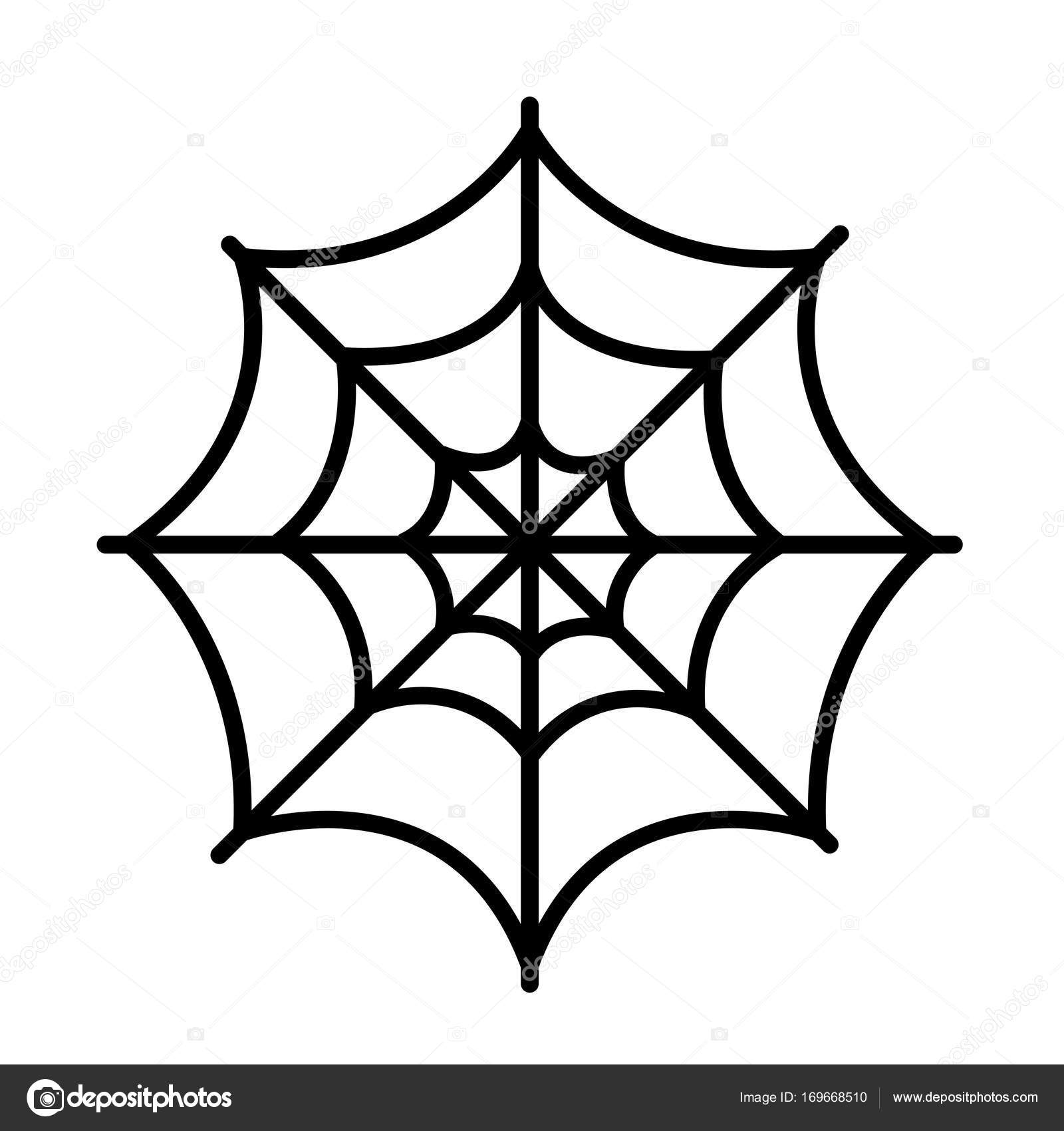 Isolated Spider Web Icon