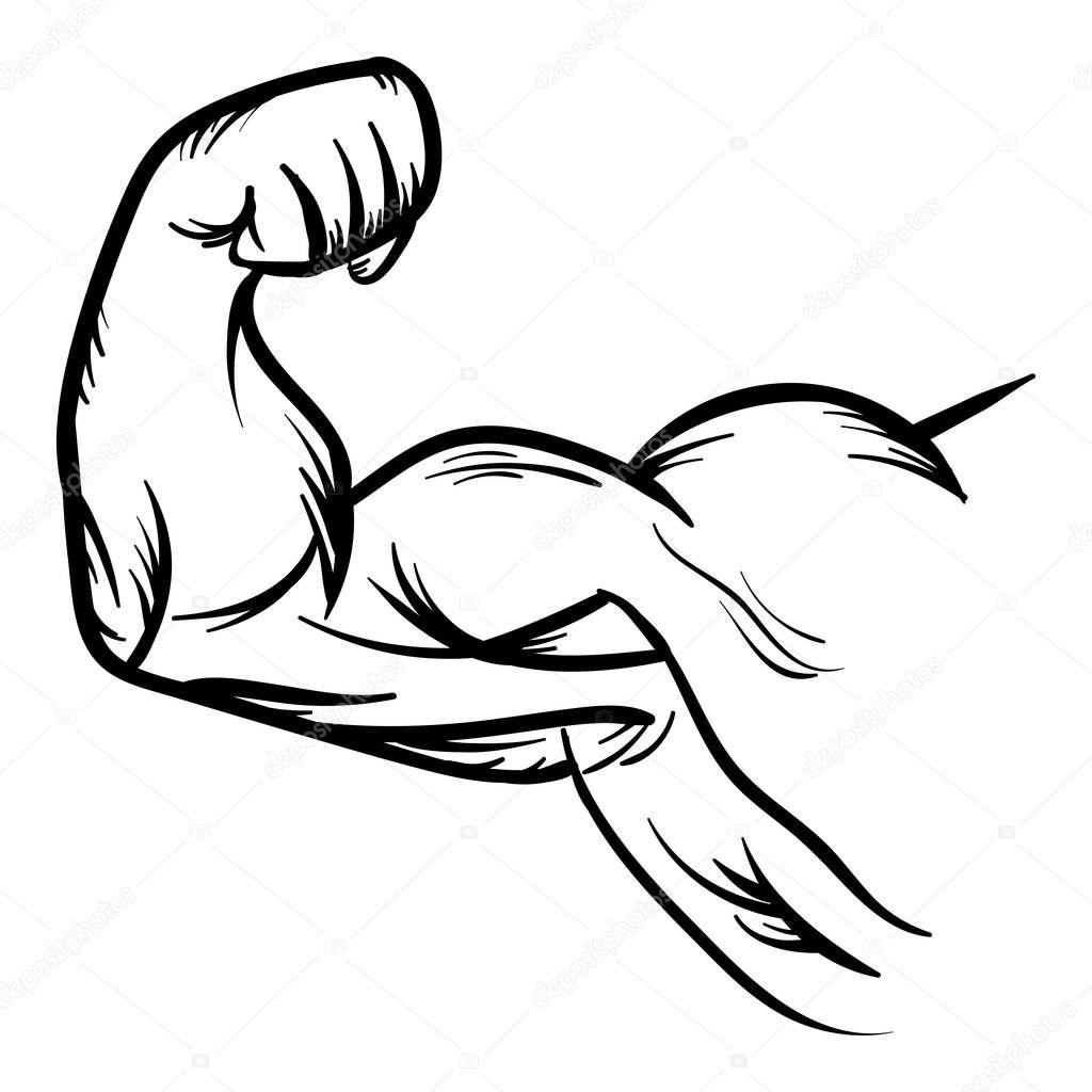 Forte Fisiculturista Biceps Flex Braco Vector Icone