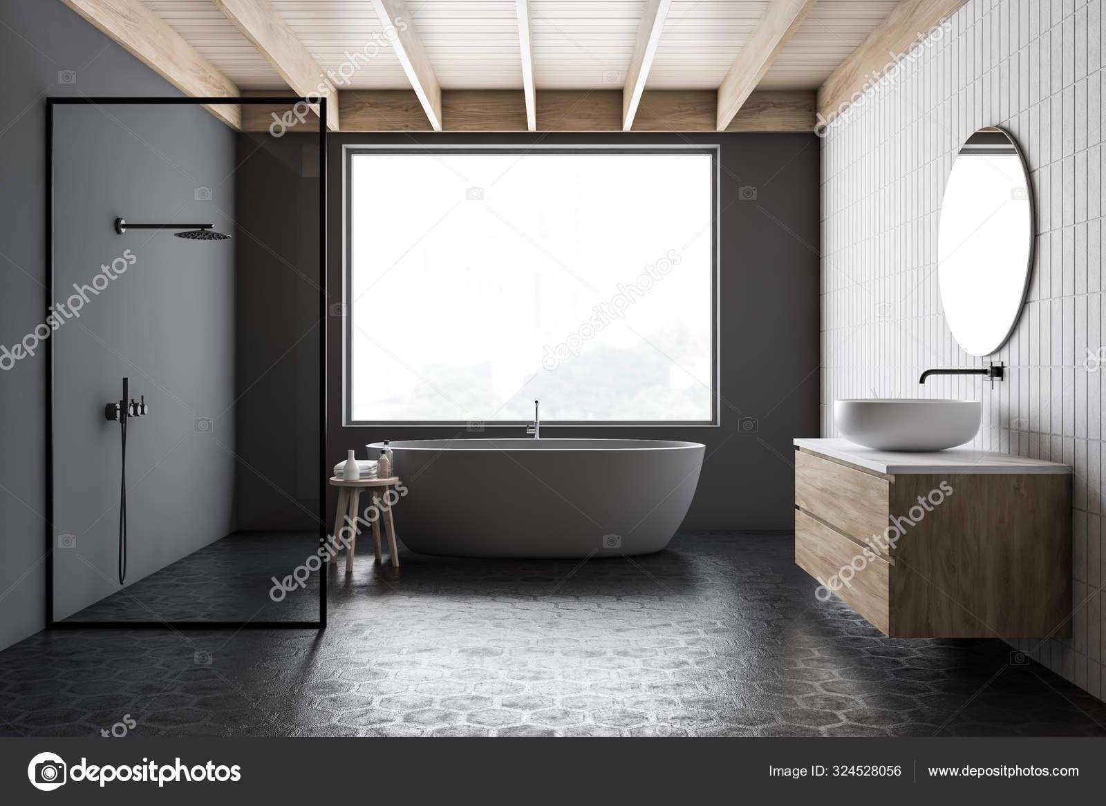https depositphotos com 324528056 stock photo stylish dark gray bathroom with html