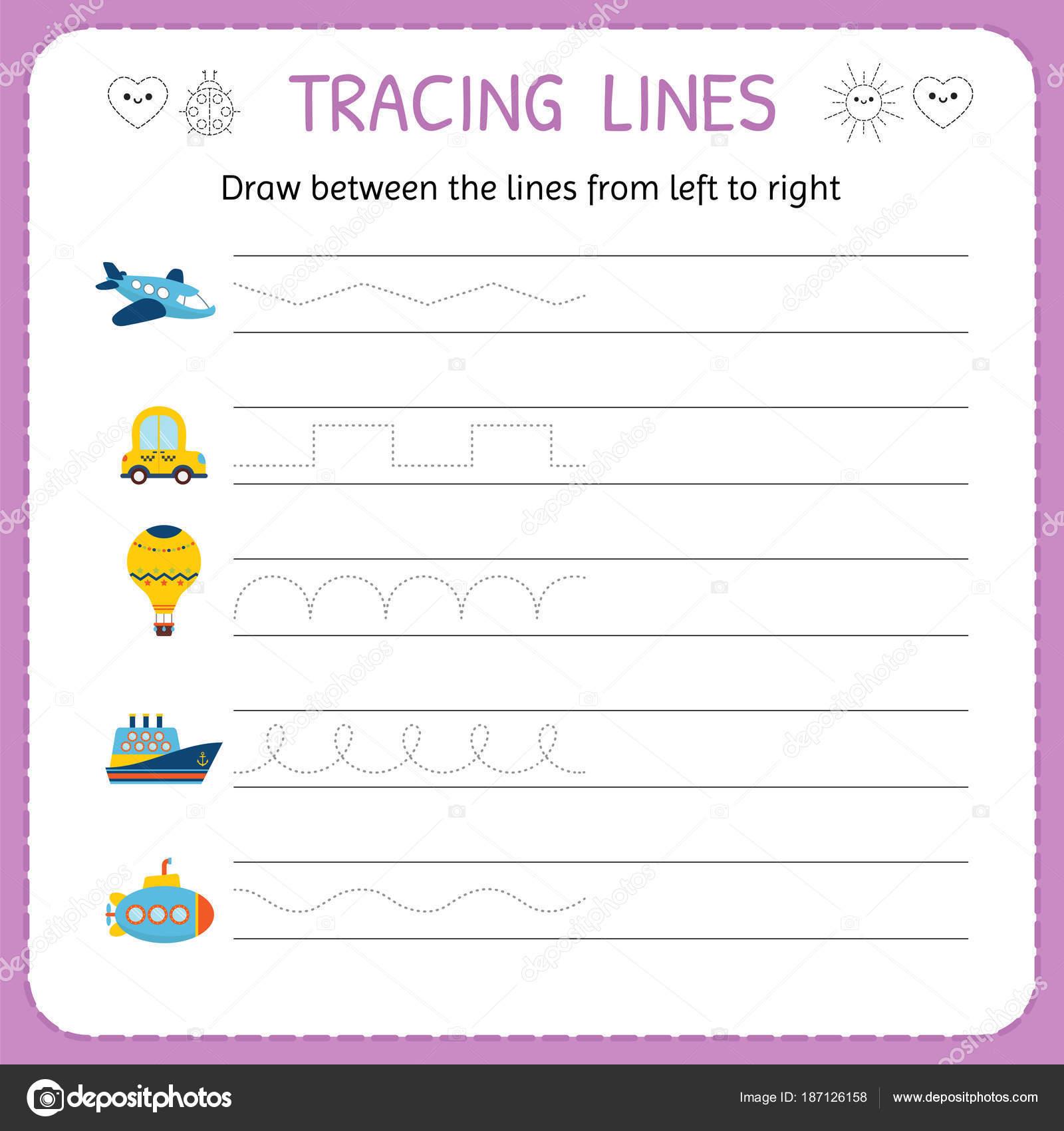 Dibuja Entre Las Lineas De Izquierda A Derecha Preescolar