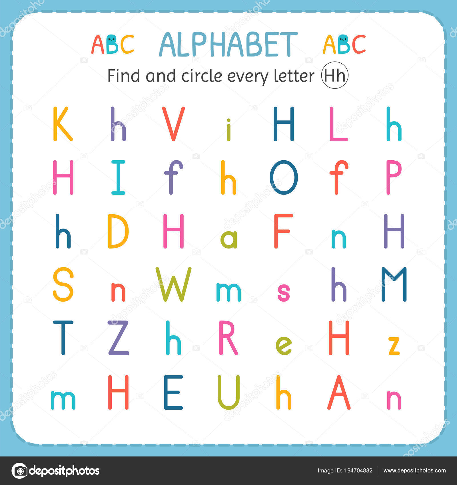 Letter H Worksheet For Preschool