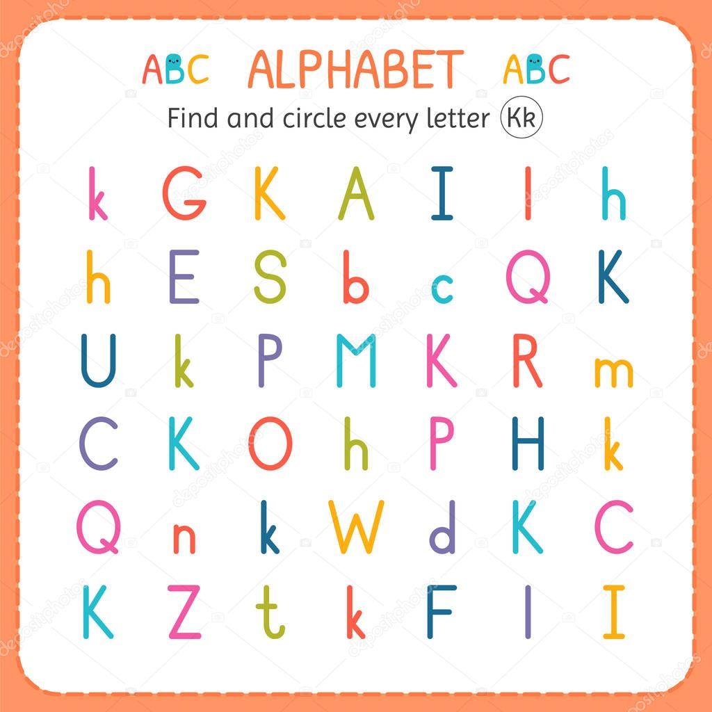 Encontrar Y Circulo Cada Letra K Hoja De Trabajo Para