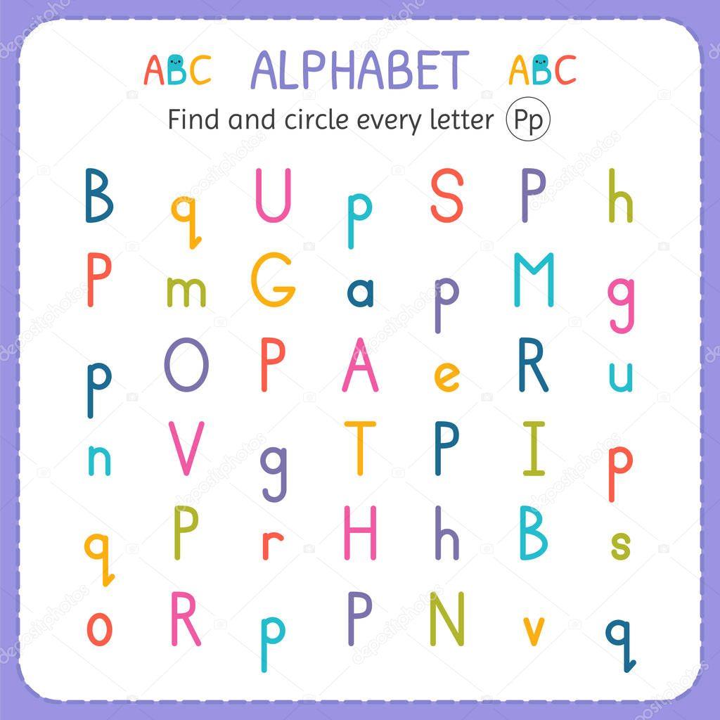 Trouver Et Encerclez Chaque Lettre P Feuille De Calcul