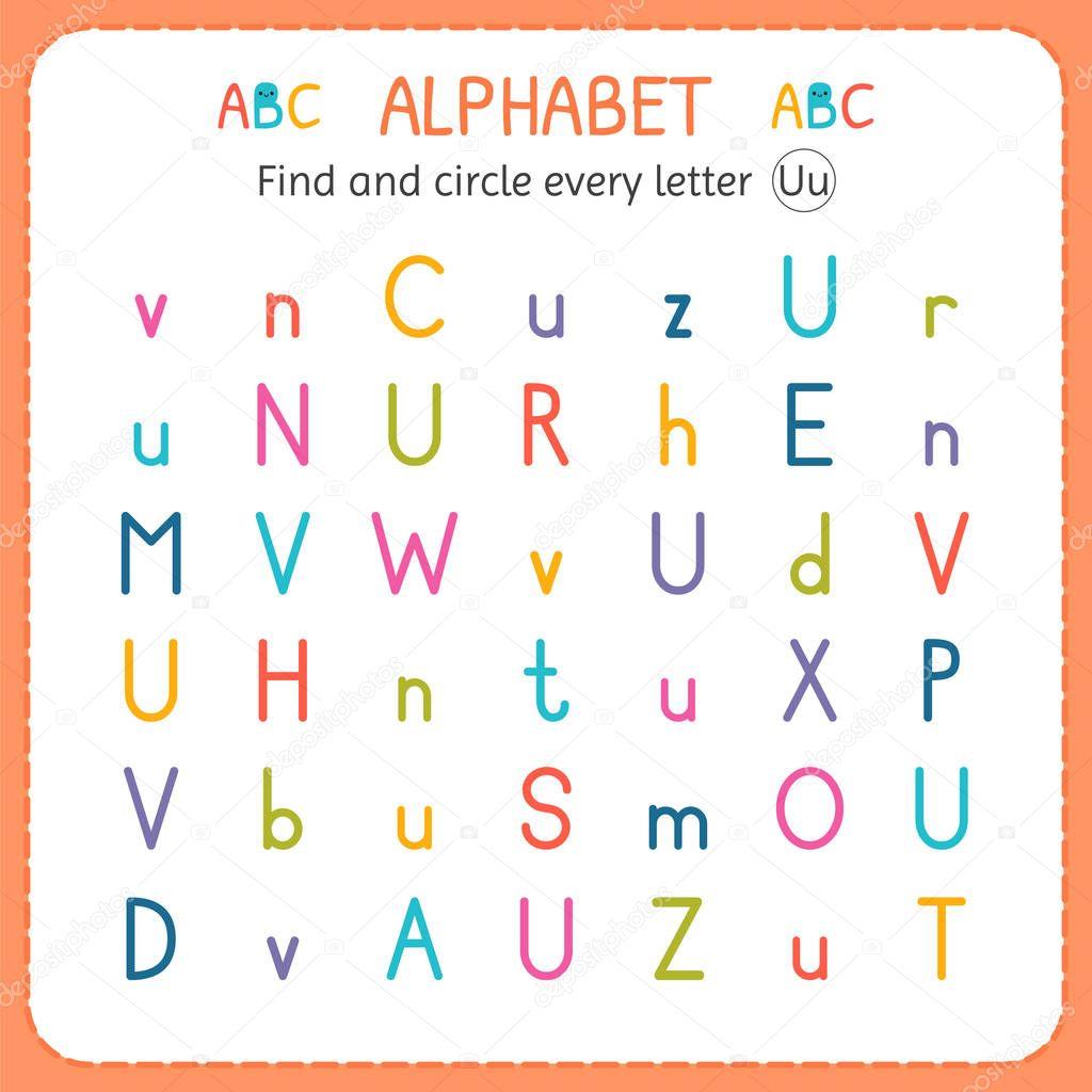 Kindergarten Worksheet Letter Size