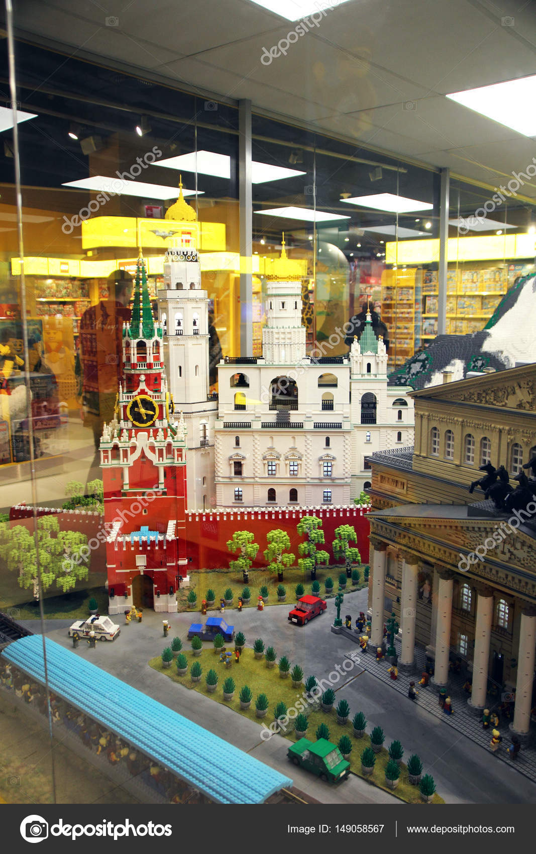 March 5  2017  Moscow  Russia  Beautiful models assembled from a     March 5  2017  Moscow  Russia  Beautiful models assembled from a Lego  designer
