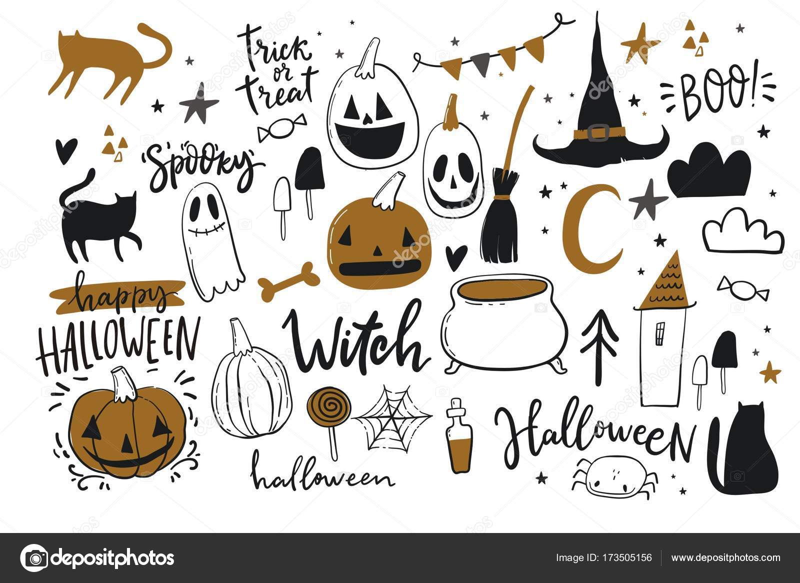 Happy Halloween Print Stock Vector C Webmuza 173505156