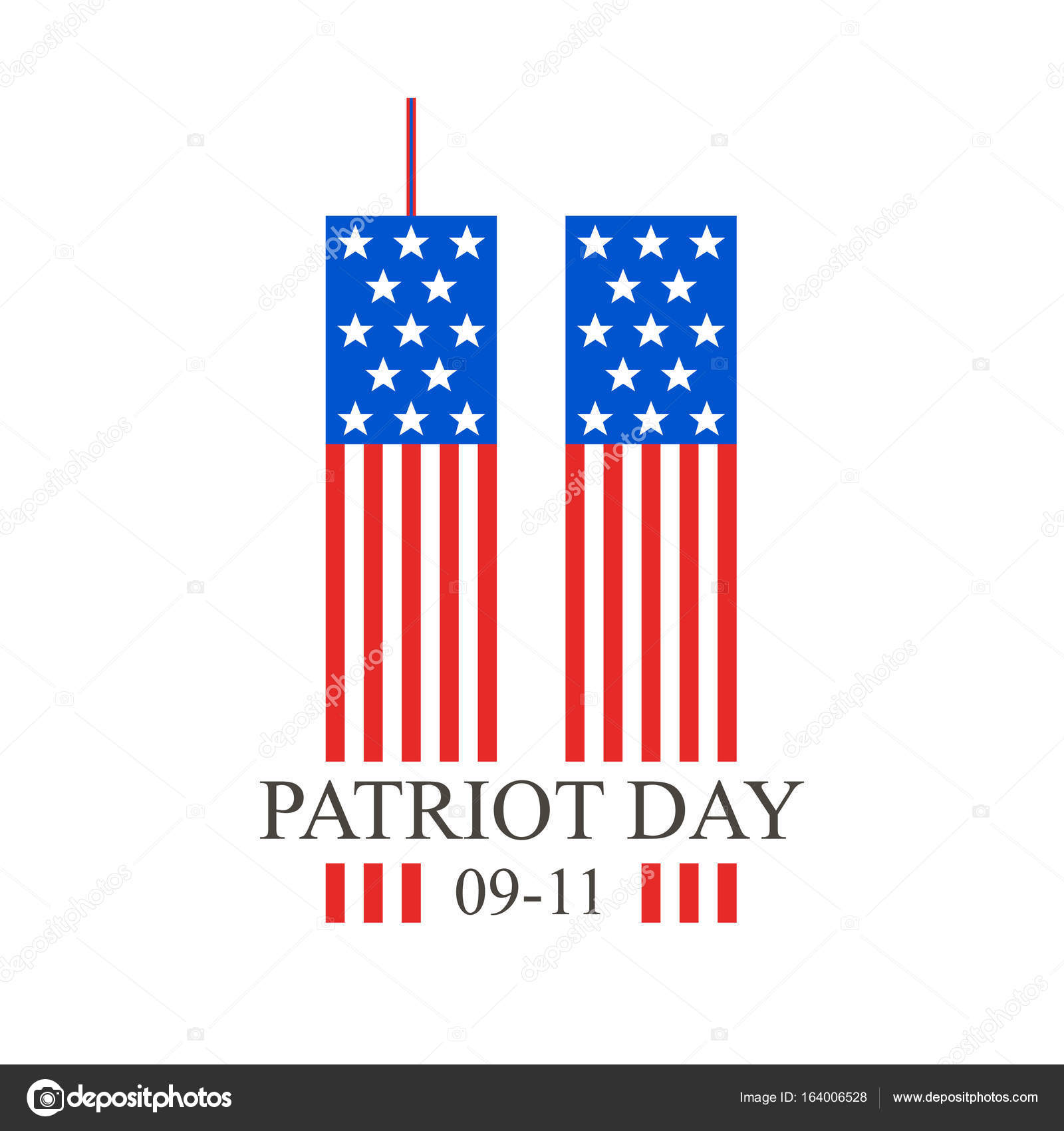 Patriot Day September 11 Vector Illustration