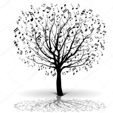 Resultado de imagen de arbol musica