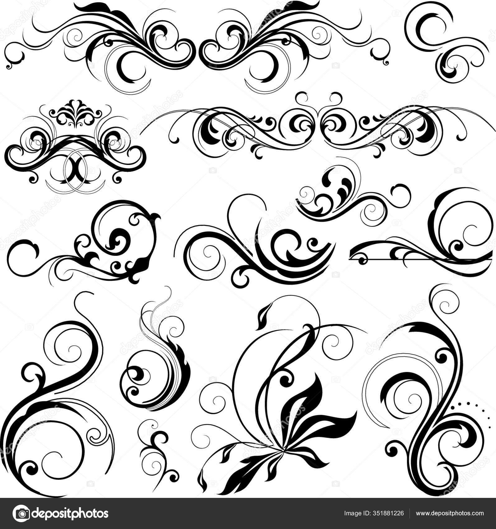 Seni Digital Gambar Modern Wallpaper Stok Vektor C Panthermediaseller 351881226