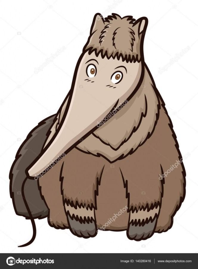 Cartoon Anteater Icon Vector Image