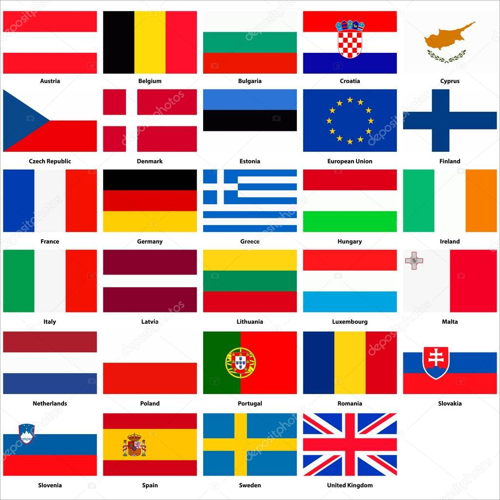 Alle Flaggen Der Lander Der Europaischen Union