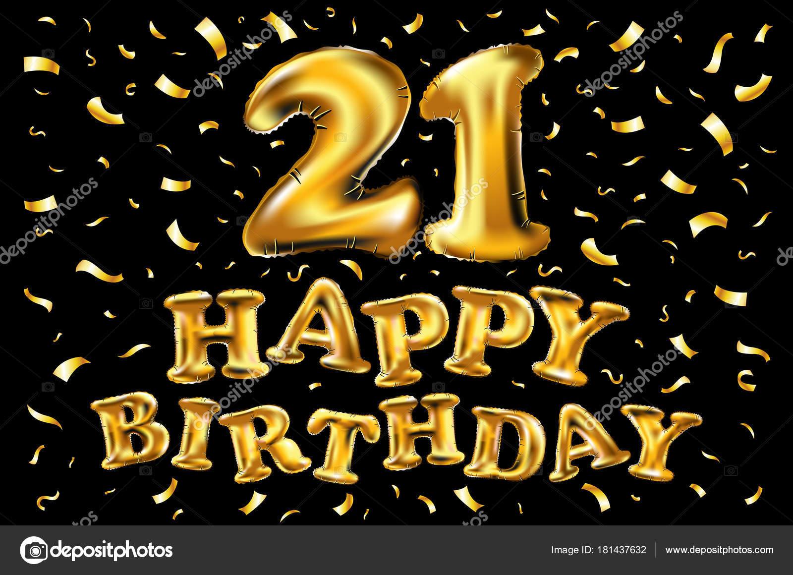 21th Happy Birthday Anniversary Greeting Card Vector Design Vector Image By C Romanchik Ruslan Gmail Com Vector Stock 181437632