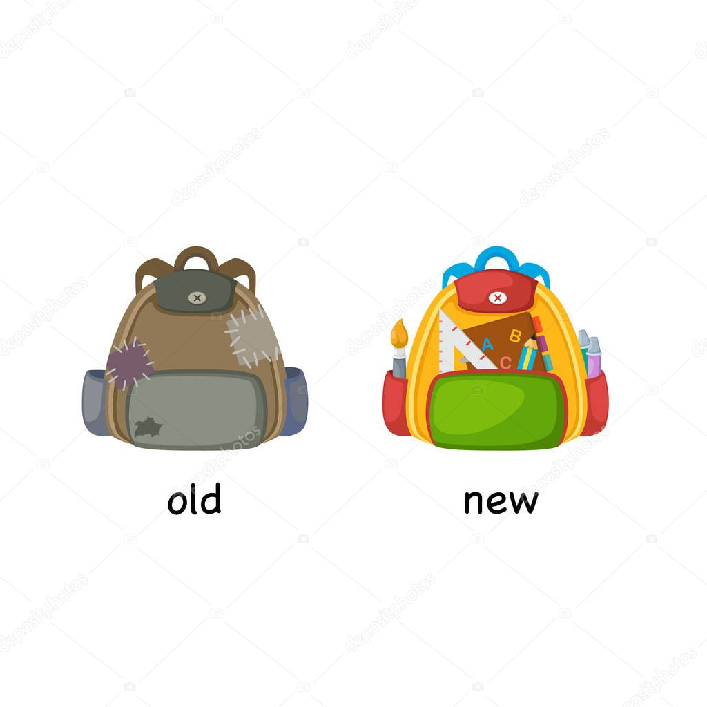 Opposite Old And New Vector Illustration