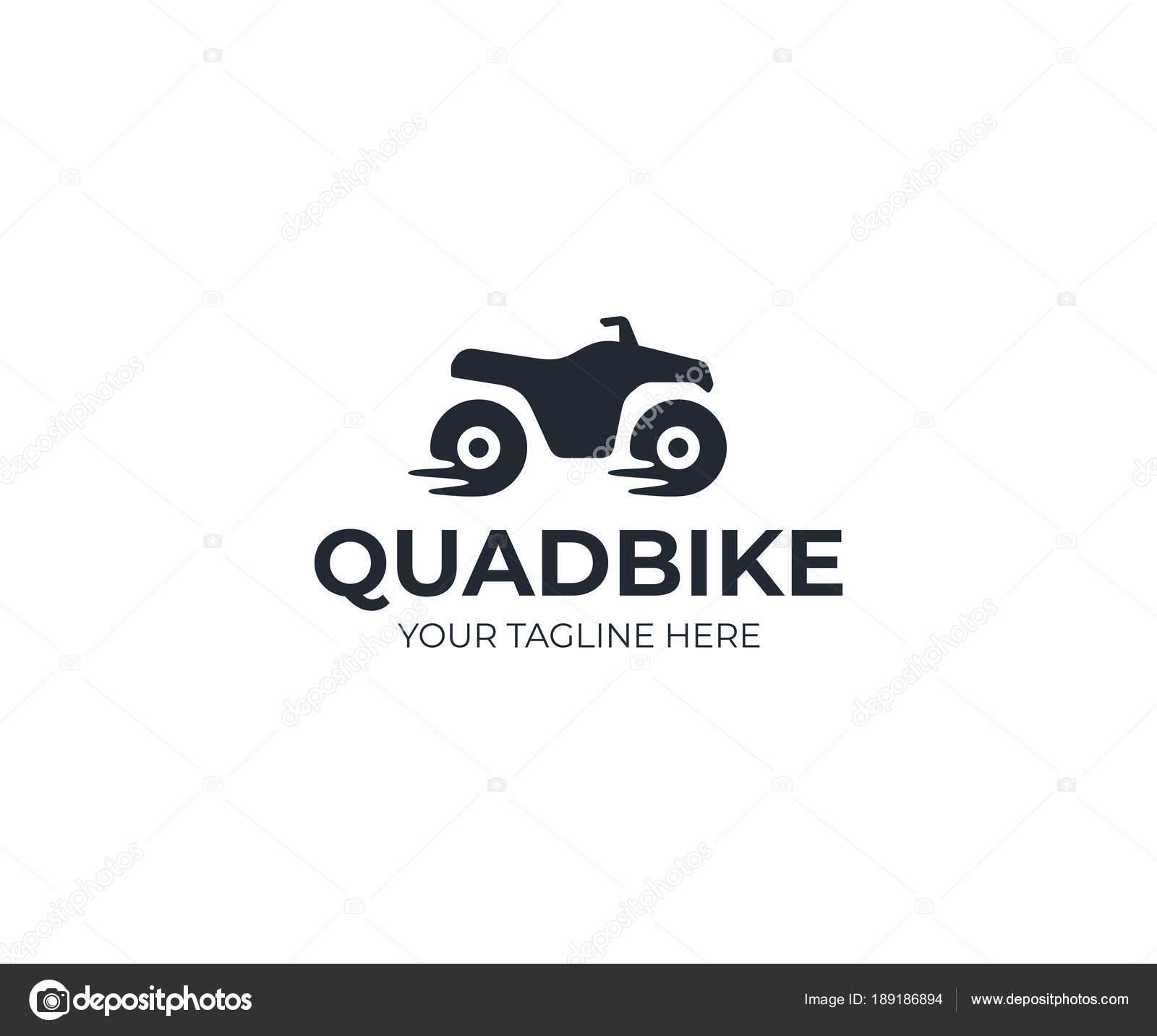 Modello Logo Moto Quad Disegno Vettoriale Atv Quad Bike