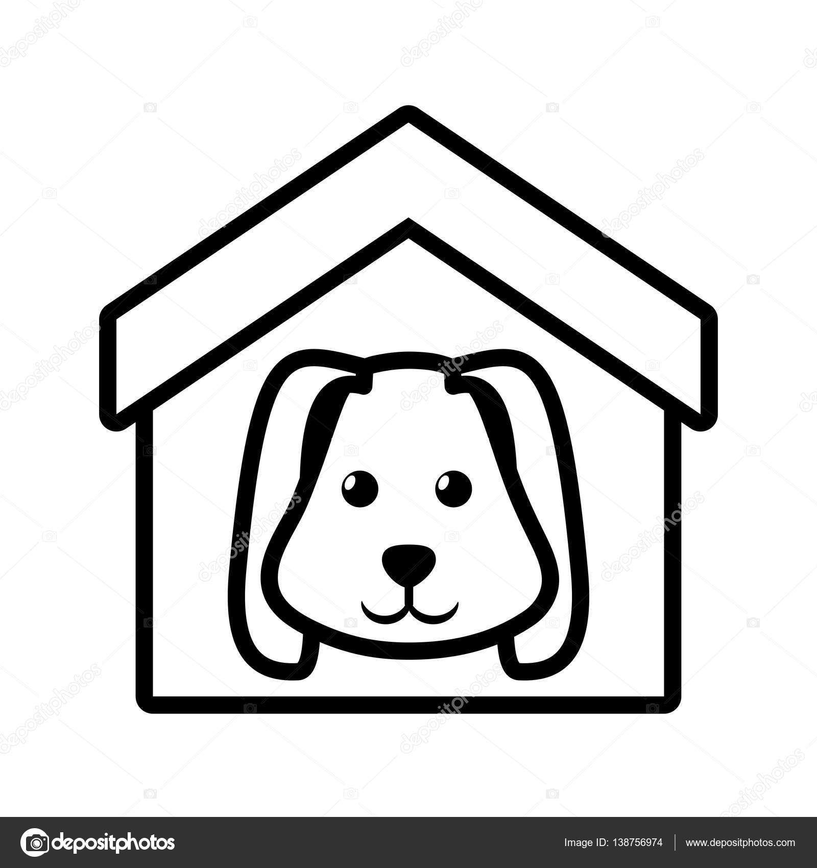 Dog Animal Pet Ear Long House Pet Outline