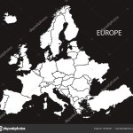 Europe Map Black And White Europe With Countries Map Black And White Stock Vector C Ingomenhard 134104438