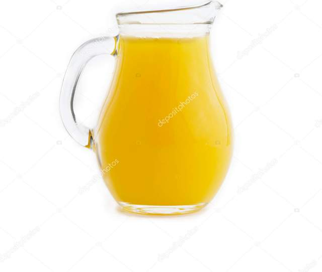 Juice In Heavy Glass Jug Stock Photo
