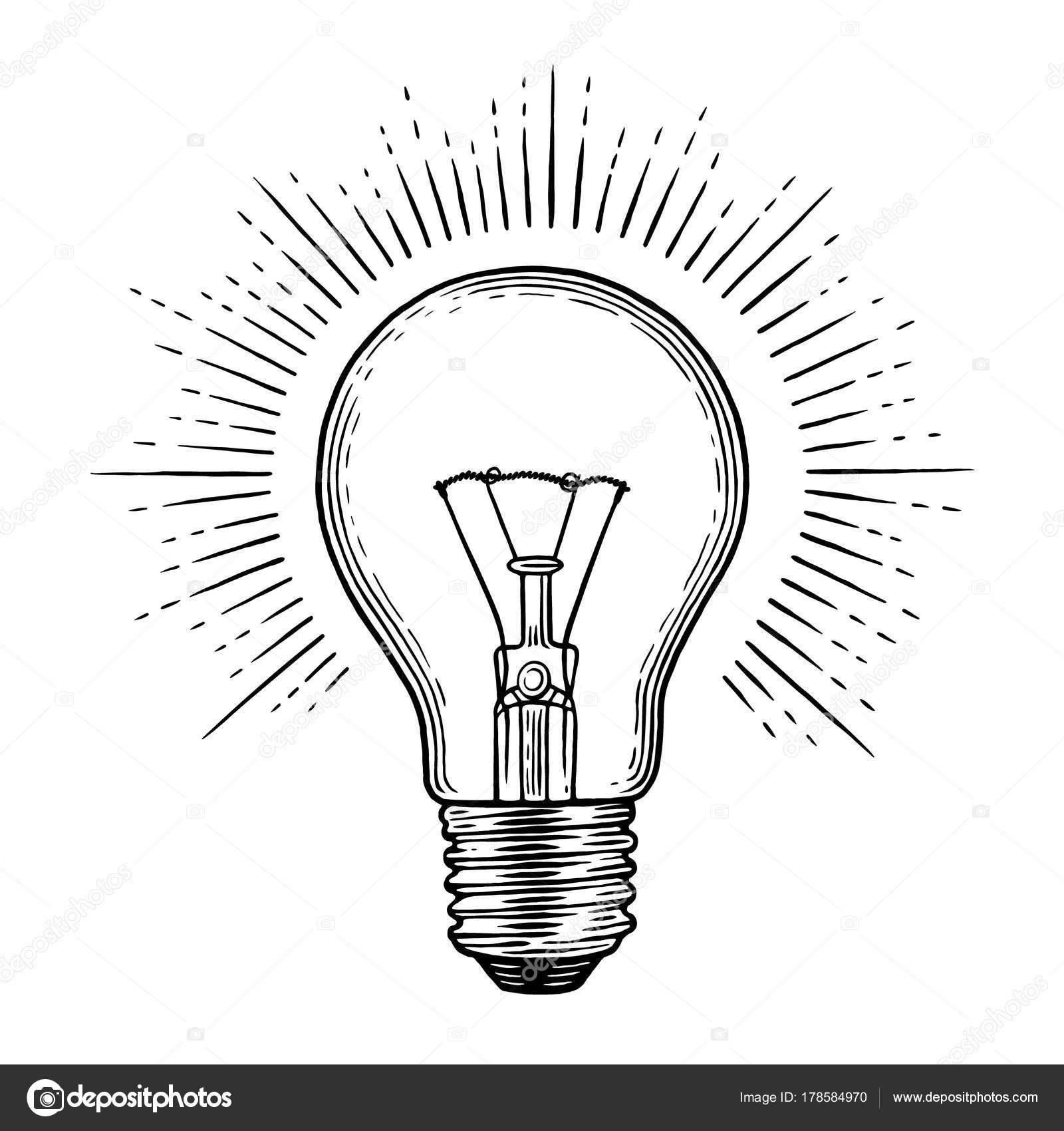 Engraving Light Bulb
