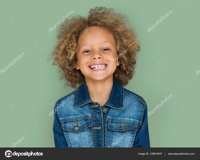 mixed race boy with curly hair — stock photo © rawpixel