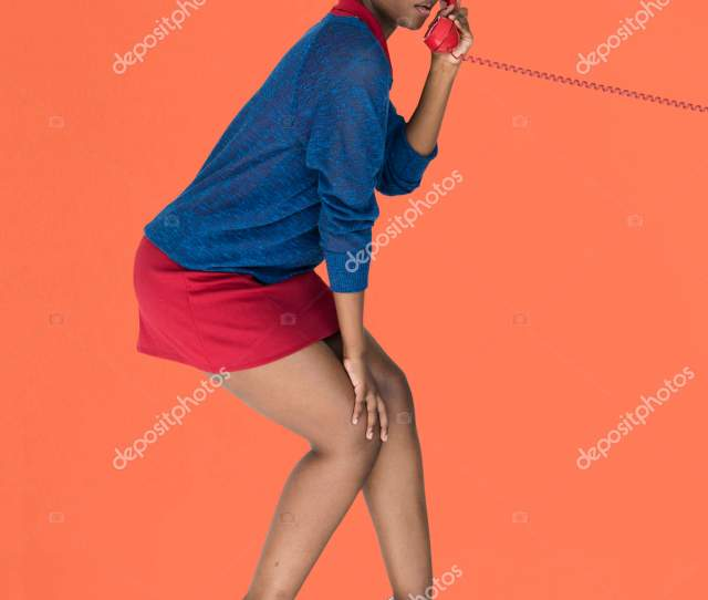 Side View Of Young African American Woman With Telephone Tube Photo By Rawpixel