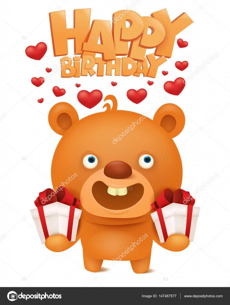 https depositphotos com 147467577 stock illustration brown funny emoji teddy bear html