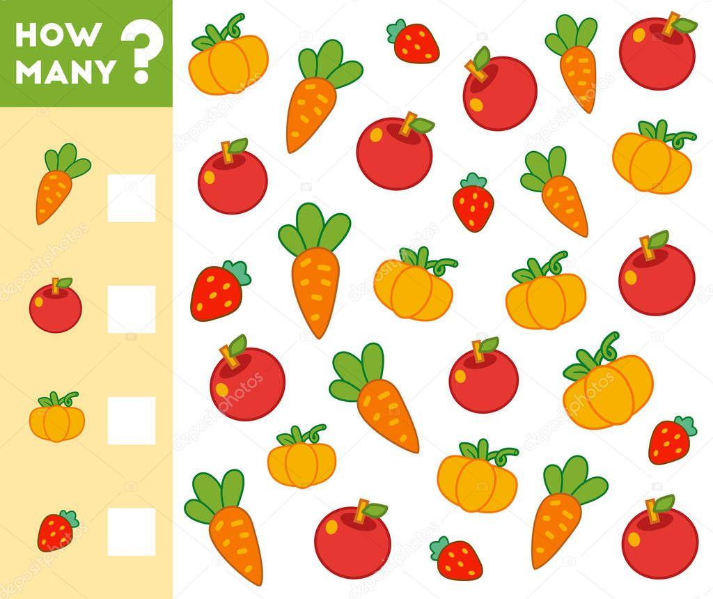 Jogo A Contar Para As Criancas Contar Quantas Frutas