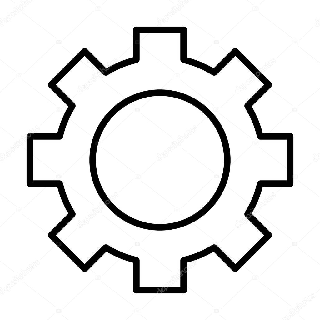 Gear Wheel Line Icon Cog Sign Options Preferences And