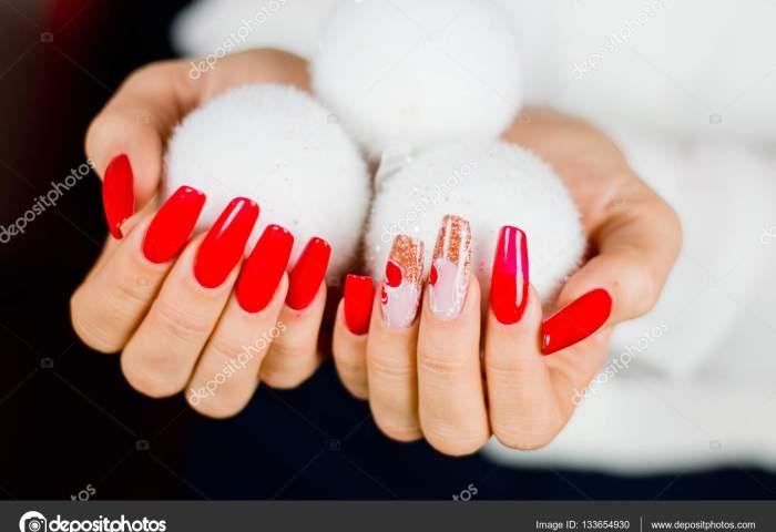 Uñas Decoradas En Rojo Para Fiesta Uñas Rojas Decoradas Para Su