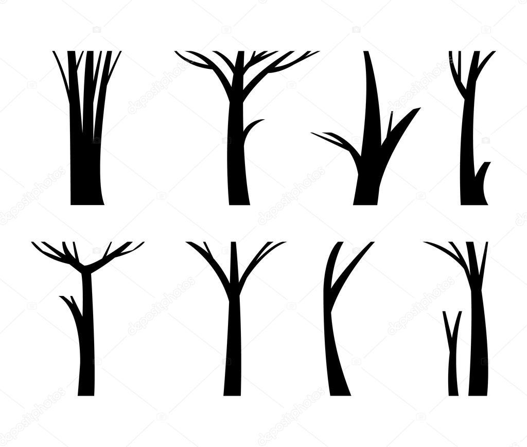 Vector Illustration Tree Trunk