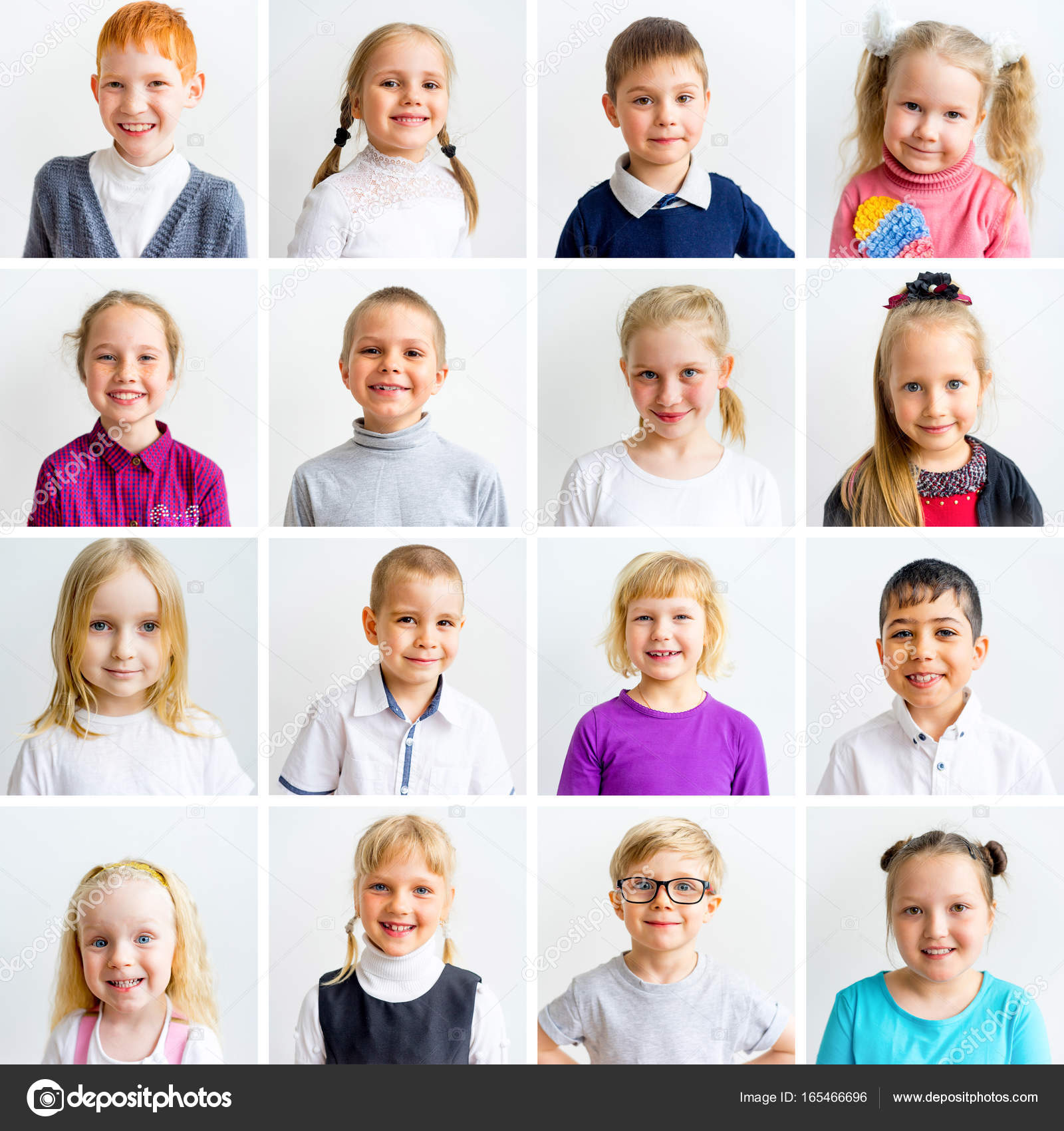 Kinderen Emoties Collage