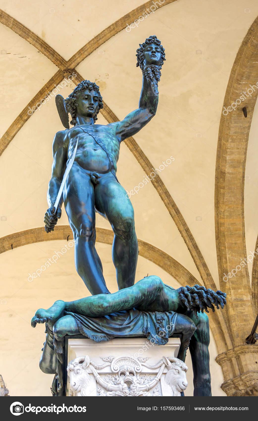 Perseus With The Head Of Medusa Bronze Sculpture