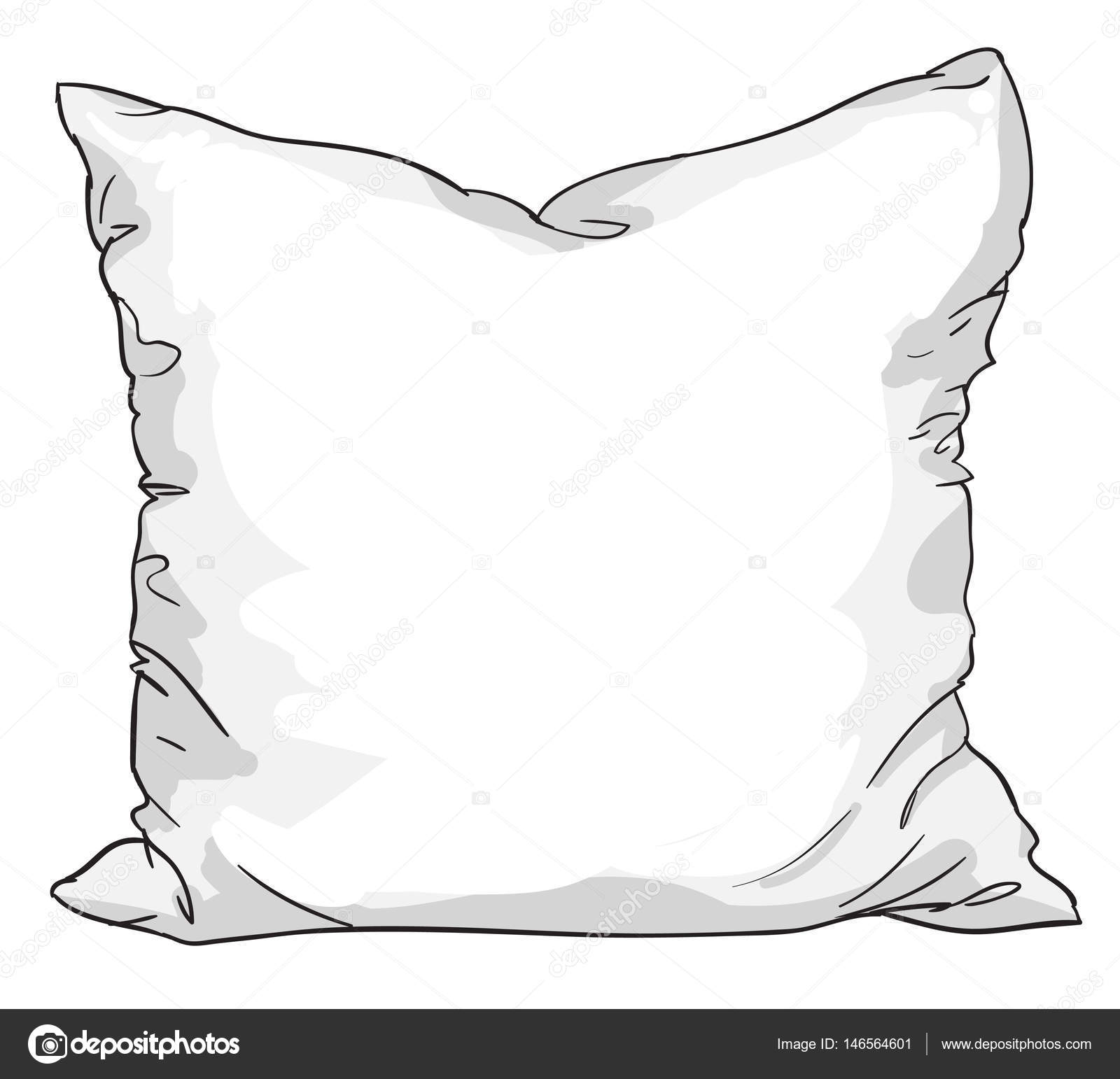 Sketch Of Bed Pillow