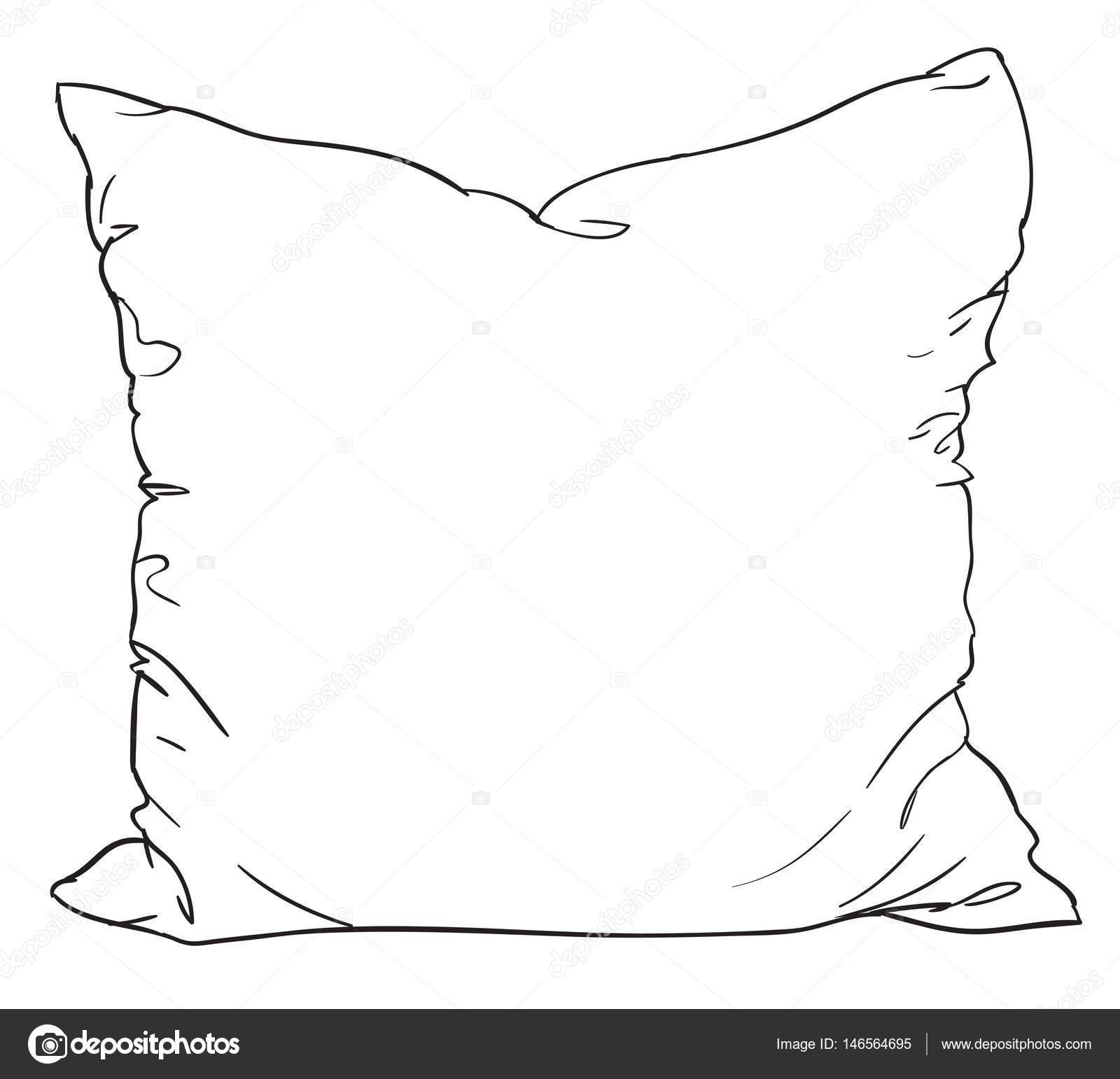 https depositphotos com 146564695 stock illustration sketch of bed pillow html