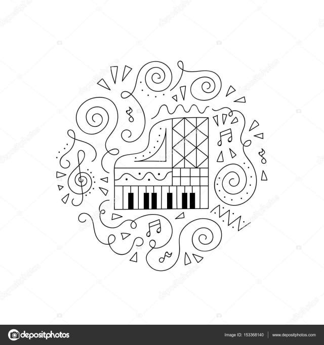 Doodle Piano coloring page. Stock Vector Image by ©Yorri #29