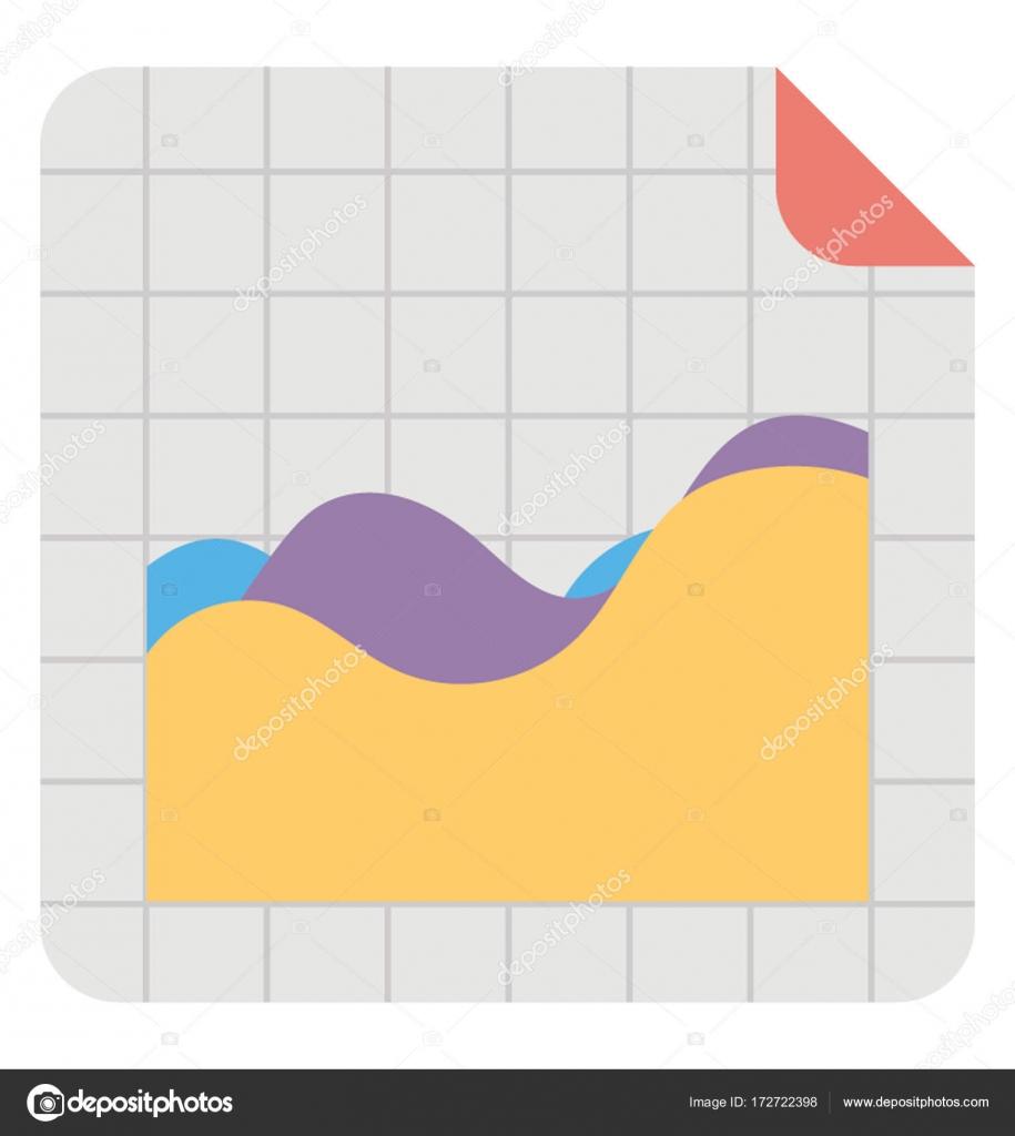 Curve Graph Vector Icon
