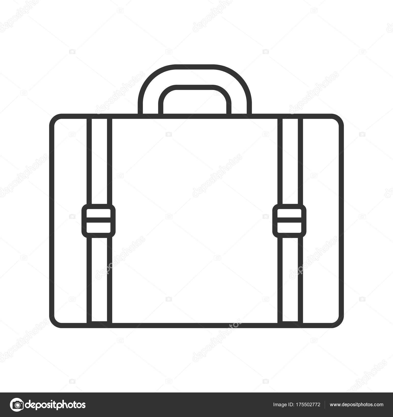 Icona Valigia Bagagli Corsa Lineare Illustrazione Tratto
