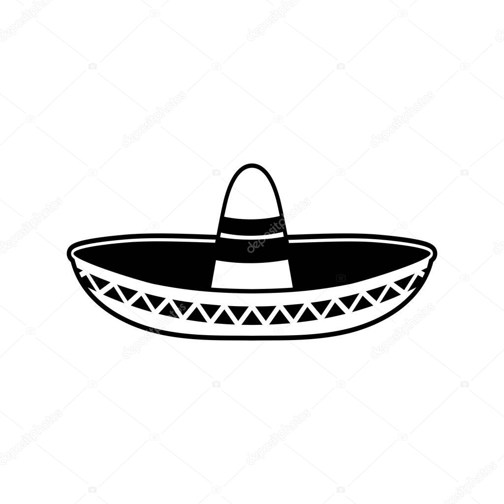 Sombrero Flat Icon National Mexican Hat Cap In Mexico