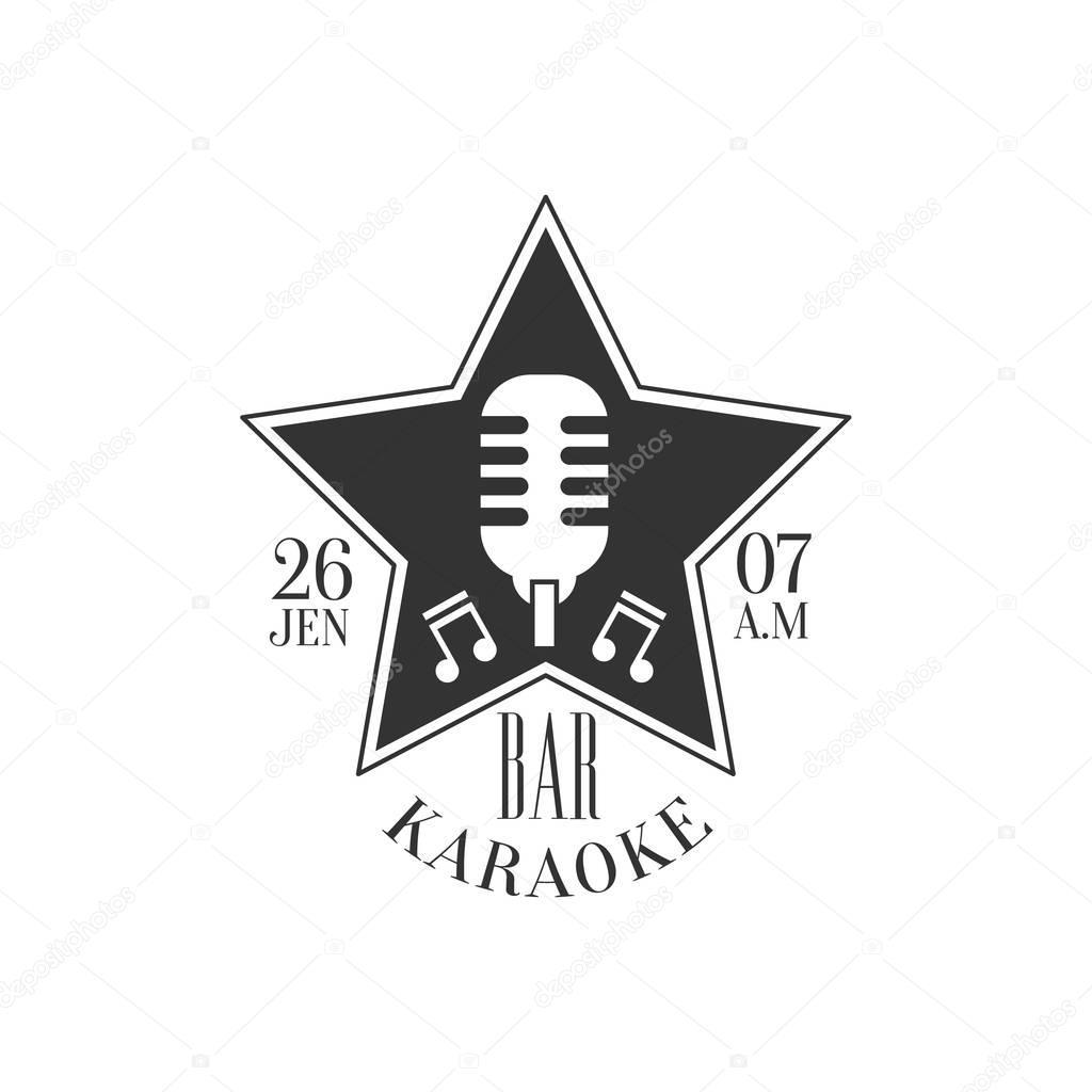 Estrellas Con Forma De Marco Con Microfono Karaoke Premium