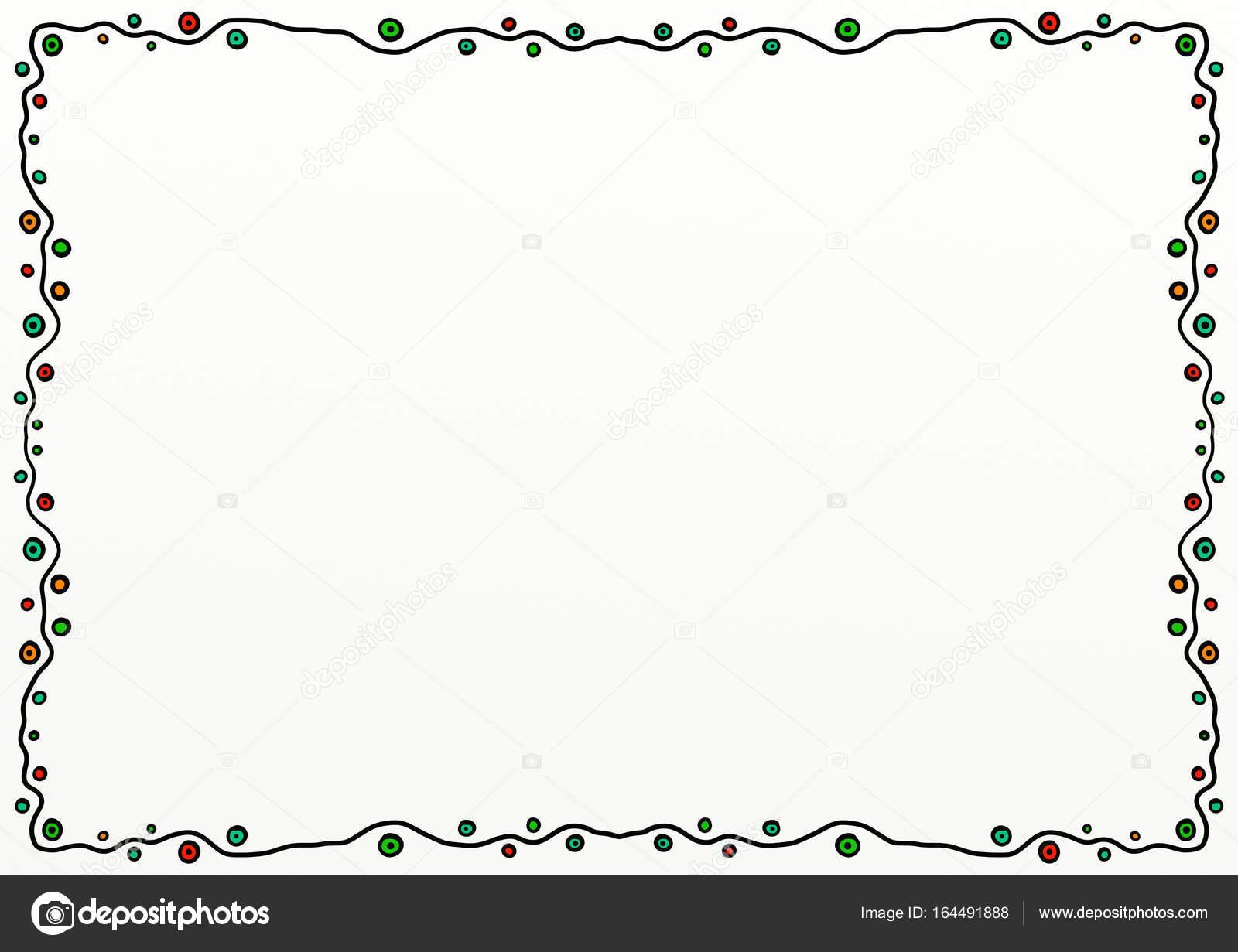Eenvoudige Doodle Paginarand Decoratie