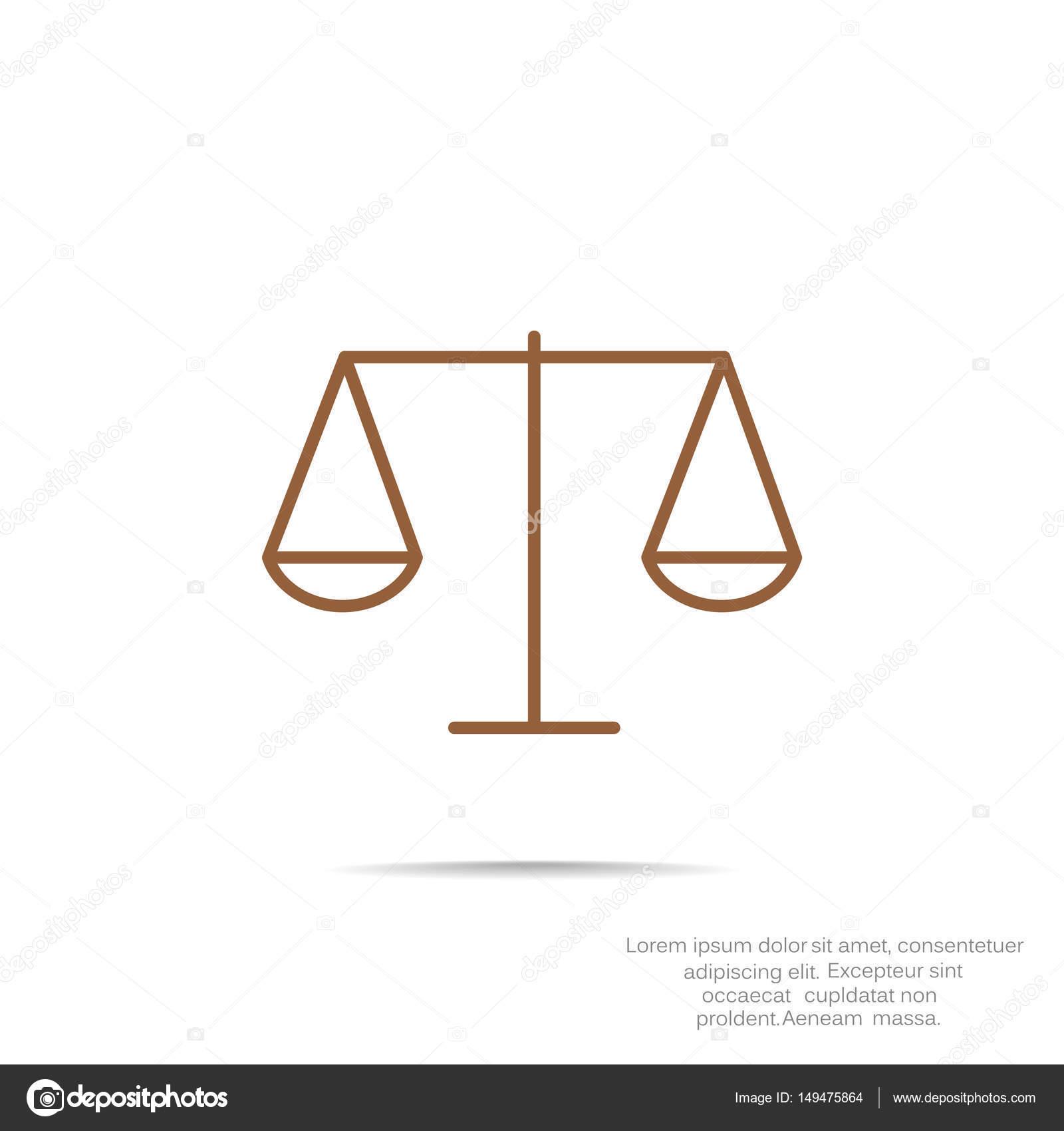 Escalas De Justicia Icono De Web Simple