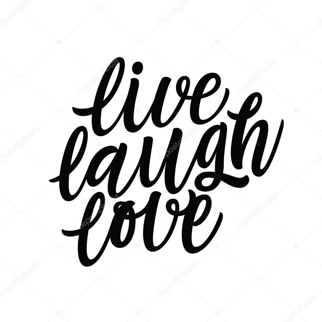 Live Laugh Love Illustration