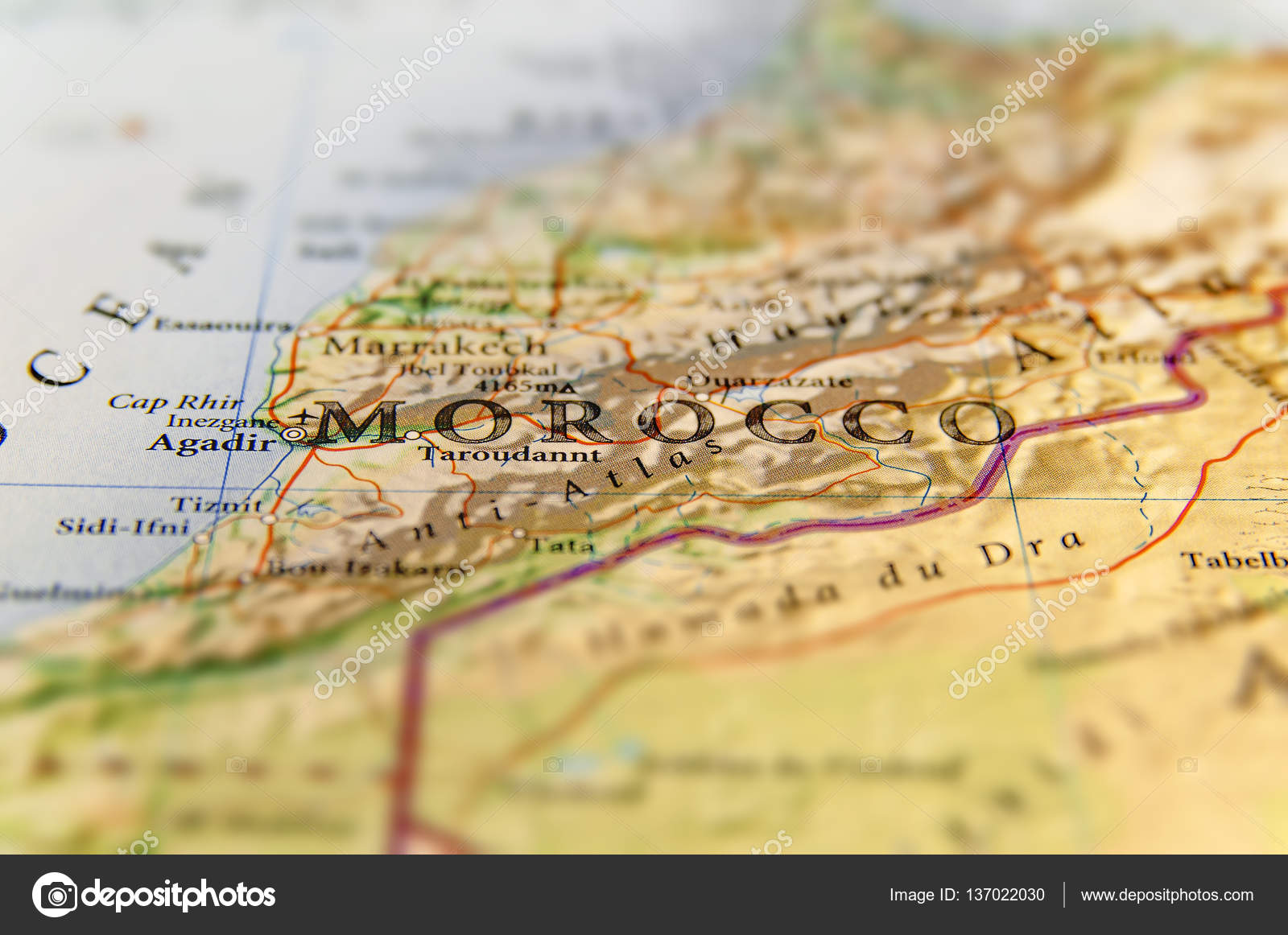 Morocco With Cities X area maps