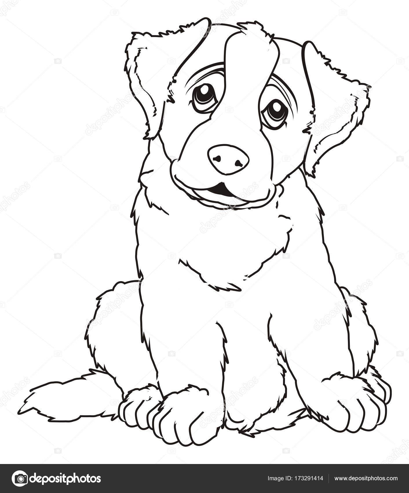 Saint Bernard Coloring Pages Printable Sketch Coloring Page