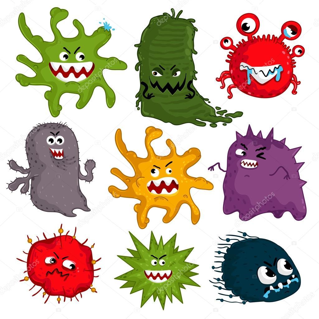 Bacteria Cartoon Funny