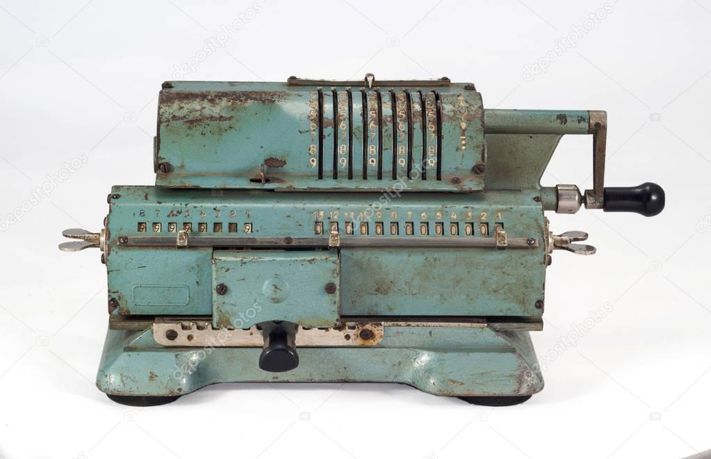 マシンを追加古いソビエト機械式計算器 — ストック寫真 © ...