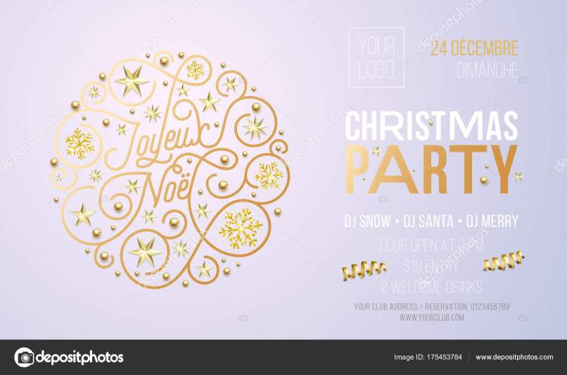 Invitation for christmas party in french inviview christmas party invitation for french joyeux noel holiday stopboris Gallery
