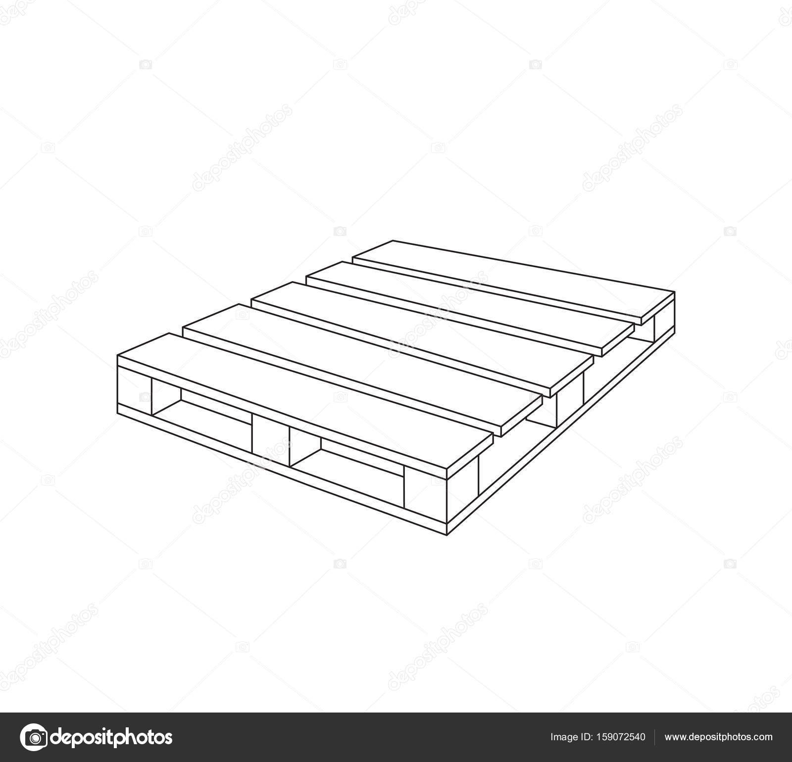 Diagram Of A Wooden Pallet