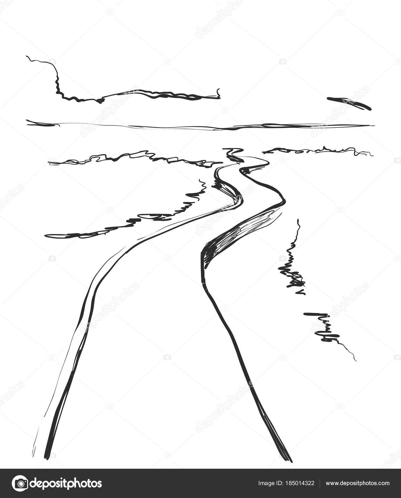 Camino De Piedras Dibujo